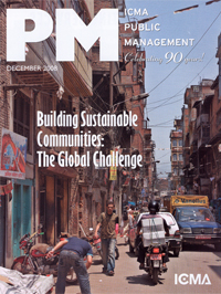 public management building sustainable communities: The global challenge